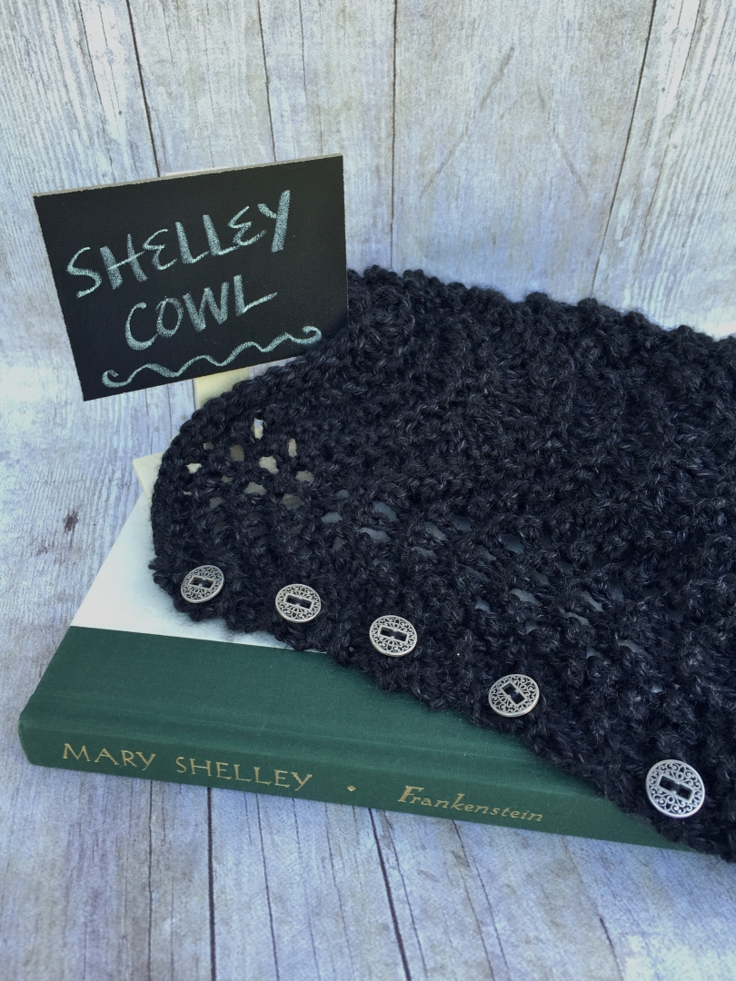 Lacy black knit cowl