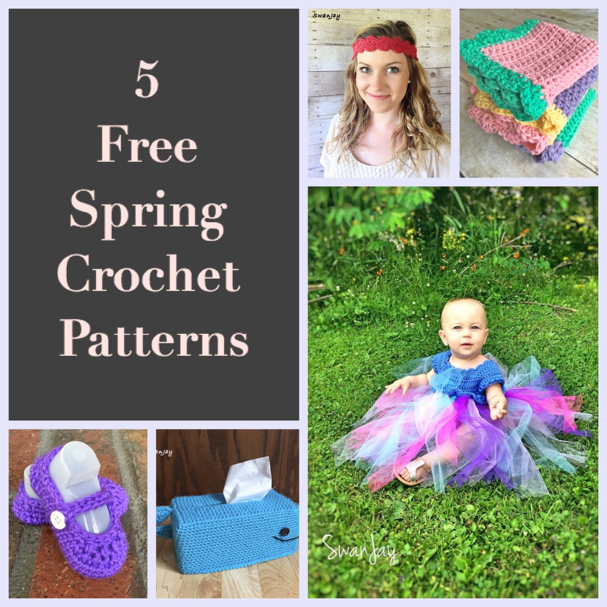 Five Things to Crochet in the Spring: Free Pattern Roundup