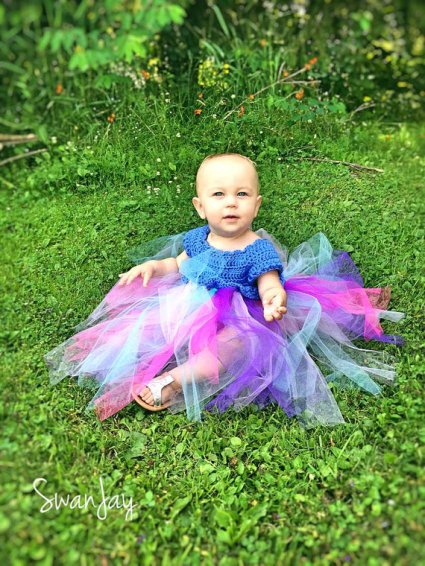 Crochet Bodice Toddler Tutu Dress
