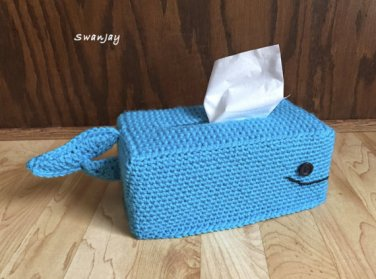 Whale Tissue Box Cover to Crochet